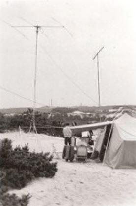PARC-Photo-1971-HF and 2 meter antennas
